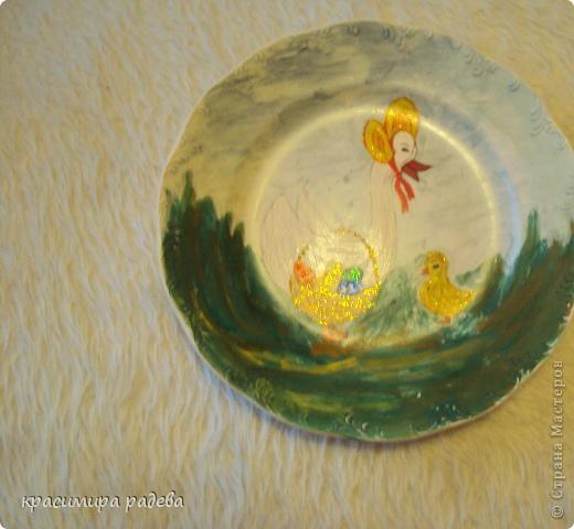 Подготовката за Великден продължава.Това са рисувани чинии с Великденски мотиви. фото 6