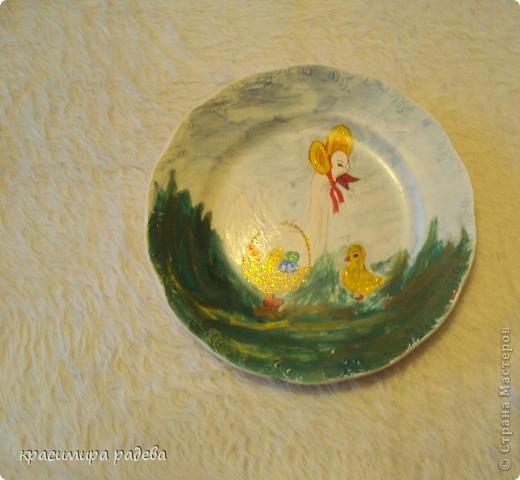 Подготовката за Великден продължава.Това са рисувани чинии с Великденски мотиви. фото 5