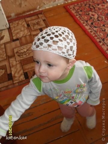 моя первая летняя шапочка по МК Голубки