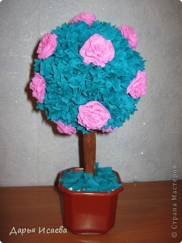 деревья из гофрированной бумаги фото 2