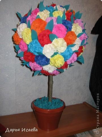деревья из гофрированной бумаги фото 4