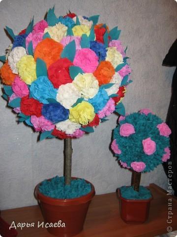 деревья из гофрированной бумаги фото 5