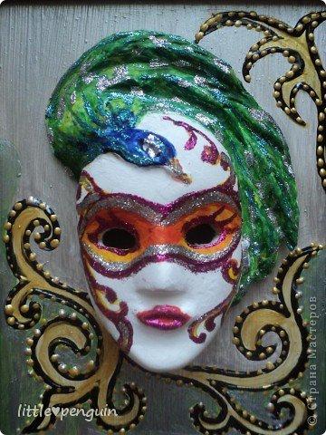 На днях сделала маску.Использовала туалетную бумагу и акриловые краски для росписи. фото 3