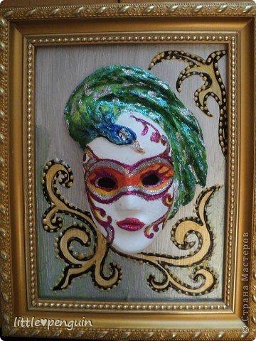 На днях сделала маску.Использовала туалетную бумагу и акриловые краски для росписи. фото 2