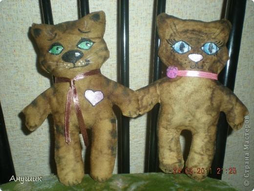 Моя знакомая попросила сшить для ее подруги кофейных котика и кошечку. фото 2