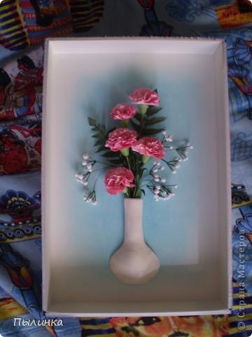 Вот такие гвоздики получились благодаря МК ЕМ.Большое Вам спасибо! (ссылку дала внизу блога). фото 1