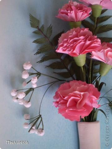 Вот такие гвоздики получились благодаря МК ЕМ.Большое Вам спасибо! (ссылку дала внизу блога). фото 3