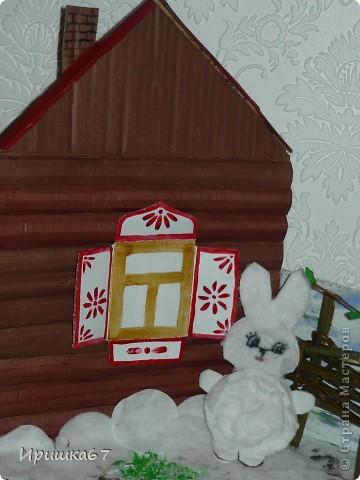 """В детский сад попросили принести поделки на тему """"В сказку пришла весна"""". Сразу вспомнилась сказка """"Заячья избушка"""" (или """"Лиса и заяц"""", в разных книжках по-разному). Жили-были в одном лесу заяц и лиса.  фото 2"""
