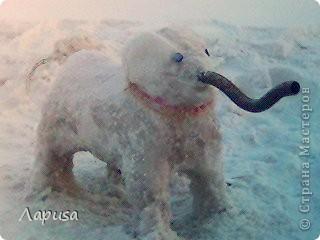 Прошлая зима была не снежная, пришлось морозить воду и делать Ледовика фото 3