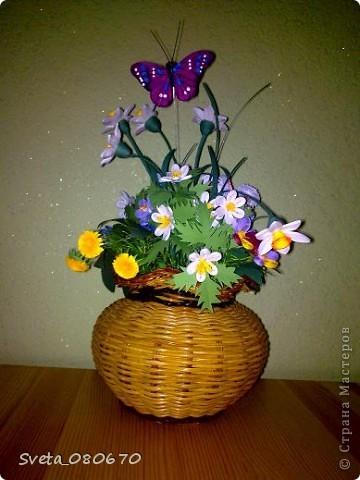 Цветы вплетеном  горшке. фото 4
