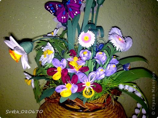 Цветы вплетеном  горшке. фото 3