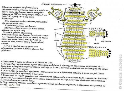 Игрушка Бисероплетение Коала + схема Бисер фото 3.