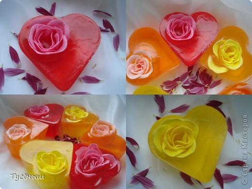 Мои любимые сердца с запахом чайной розы. фото 1