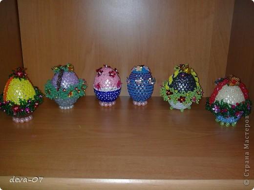 Пасхальные яйца из бисера фото 2