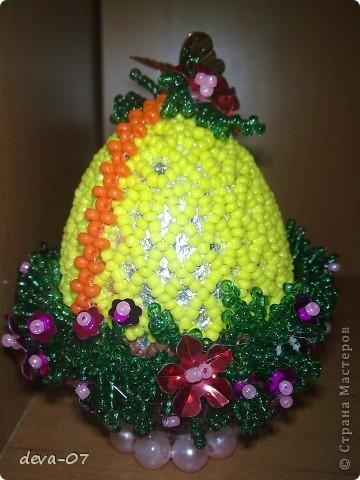 Поделка изделие Пасха Бисероплетение Пасхальные яйца из бисера Бисер фото 3.