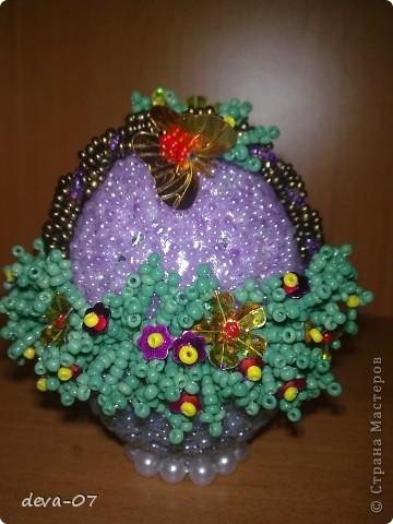 Пасхальные яйца из бисера фото 4