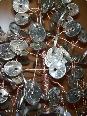 Денежное дерево из монет фото 2