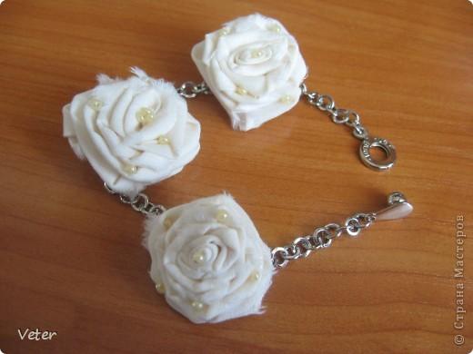 Что можно сделать из простой ткани? оказывается много чего.. Крутим розы! и получаем комплекты на лето! фото 5