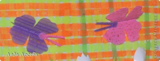 Картина из коктейльных трубочек, которые были проглажены через вощёную бумагу  фото 17