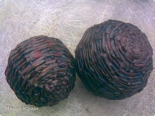 Плетеные шары для интерьера
