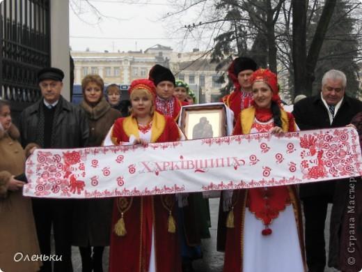 Сверхрушник, сшитый из рушников, представляющих разные области Украины, откроет чемпионат Европы по футболу в 2012 году фото 1