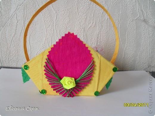 мини-МК пасхальные - сувенирные корзиночки схемка будет ниже фото 2