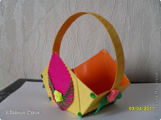 мини-МК пасхальные - сувенирные корзиночки схемка будет ниже фото 3