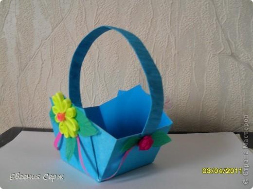 мини-МК пасхальные - сувенирные корзиночки схемка будет ниже фото 4
