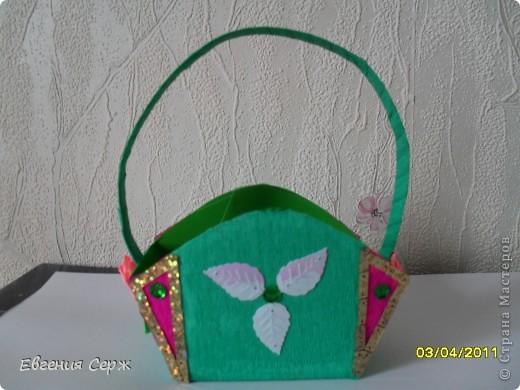 мини-МК пасхальные - сувенирные корзиночки схемка будет ниже фото 5
