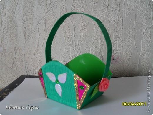 мини-МК пасхальные - сувенирные корзиночки схемка будет ниже фото 6