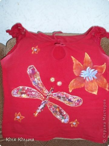 Это была простая красная футболка и джинсовый сарафан... но вот что с ними случилось.... фото 2