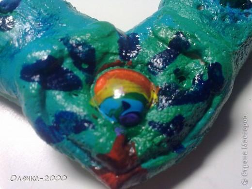 Фоторамочка из солёного теста в форме сердца.  фото 2