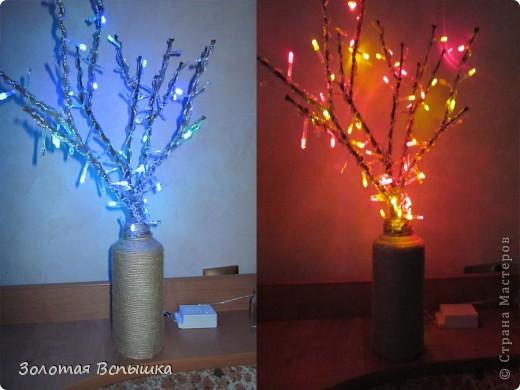 Как мы делали волшебное светящееся деревце) фото 4