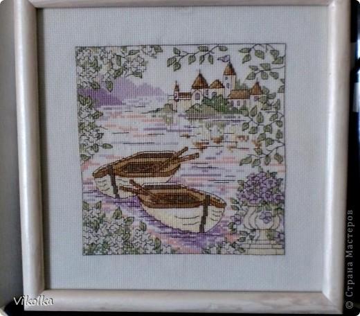 """Хочу показать вам несколько работ на """"морскую"""" тему. """"Порт""""- набор от Риолис, размер 30х40, нитки - шерсть. фото 3"""
