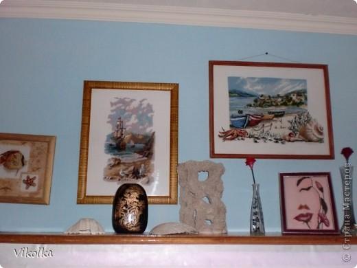 """Хочу показать вам несколько работ на """"морскую"""" тему. """"Порт""""- набор от Риолис, размер 30х40, нитки - шерсть. фото 8"""