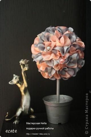 Дерево счастья из лент №2 фото 1