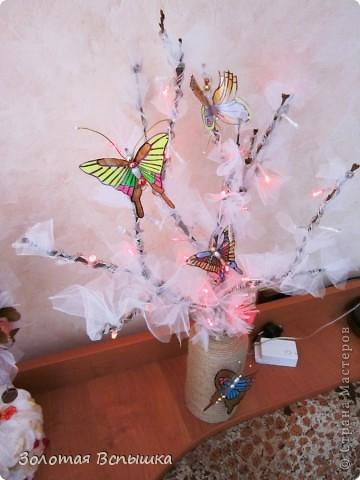 Как мы делали волшебное светящееся деревце) фото 8