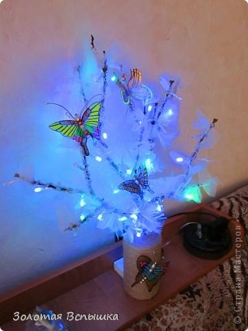 Как мы делали волшебное светящееся деревце) фото 1
