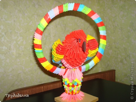 Попугай на жёрдочке фото 2