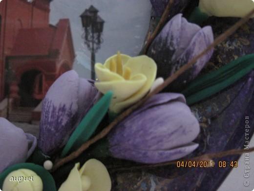 Это храм Сергия Радонежского, который находится у нас, на Кубани.Решила воспользорваться фото для декупажа.ХФ ( самовар)- цветы. Всё просто.Но мне не понравилось.И фото  не очень, и тарелка не вытерта как следует. фото 3