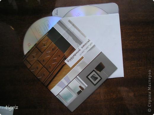 Вот такие конвертики (коробочки) для дисков с мультяшками у меня получились из журналов. фото 7