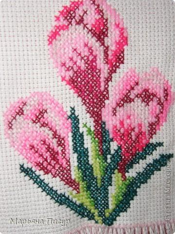 Картинка-вышивка любимых цветов - крокусов - МЕЧТЫ СБЫВАЮТСЯ!!!! фото 1