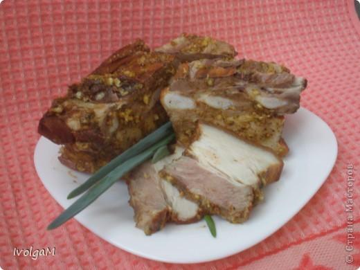 По этому рецепту можно готовить и мясо, и курицу. У меня сегодня грудинка. фото 1