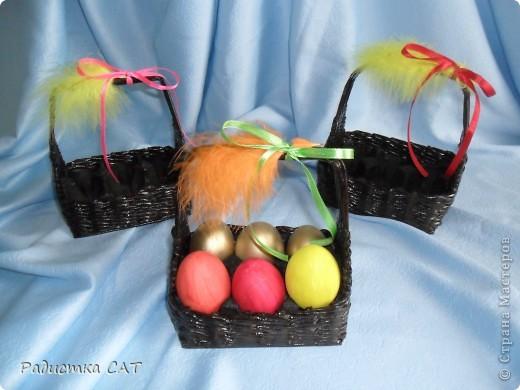 Корзиночки для пасхальных яиц. фото 5