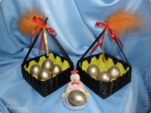 Корзиночки для пасхальных яиц. фото 4
