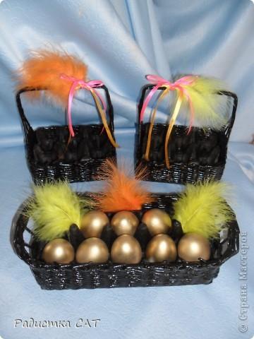 Корзиночки для пасхальных яиц. фото 1