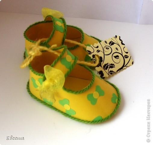 Подарочные сандалики фото 6