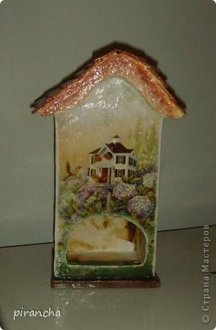 Ну вот и у меня есть домик для чайных пакетиков, только рыжая не понимает что ЭТО. фото 2