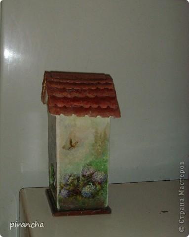 Ну вот и у меня есть домик для чайных пакетиков, только рыжая не понимает что ЭТО. фото 5