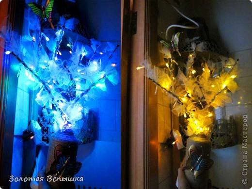 Как мы делали волшебное светящееся деревце) фото 9